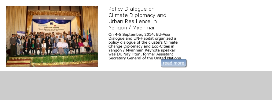 Policy Dialogue on Climate Diplomacy and Urban Resilience in Yangon / Myanmar