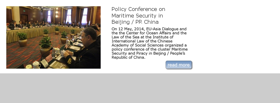 Policy Conference on Maritime Security in Beijing / PR China