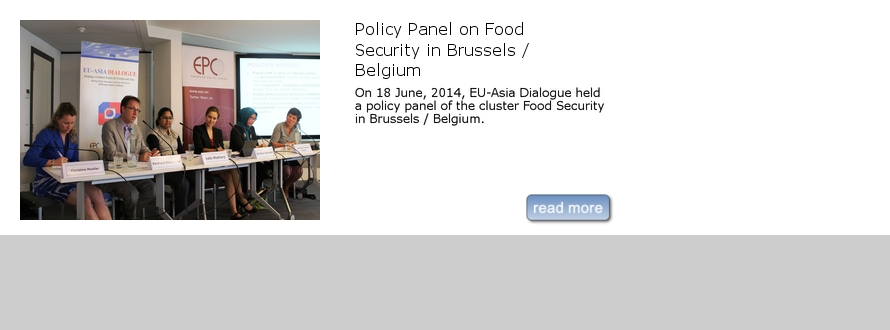 Policy Panel on Food Security in Brussels / Belgium